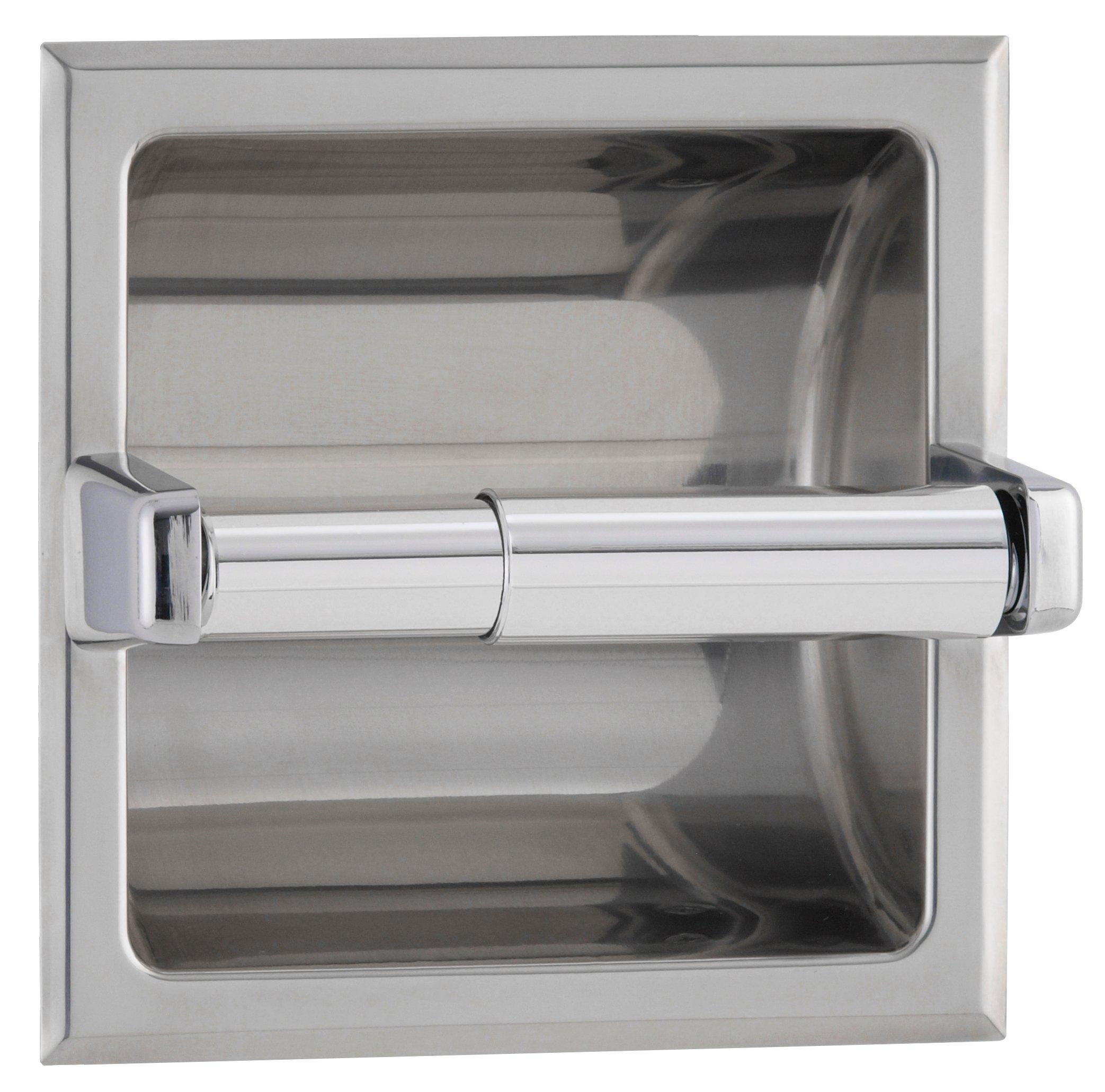 Bobrick Recessed Toilet Roll Dispenser Polished