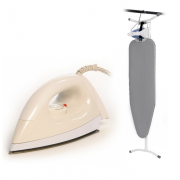 Floor Standing Ironing Board with Dry Iron