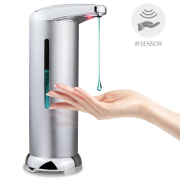 280ml Free Standing Automatic Soap Dispenser Silver