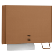 One Copper Combination Towel and Sanitiser Dispenser