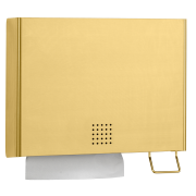 One Brass Combination Towel and Foam Soap Dispenser