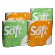 40x Pure Soft White Toilet Roll 3ply